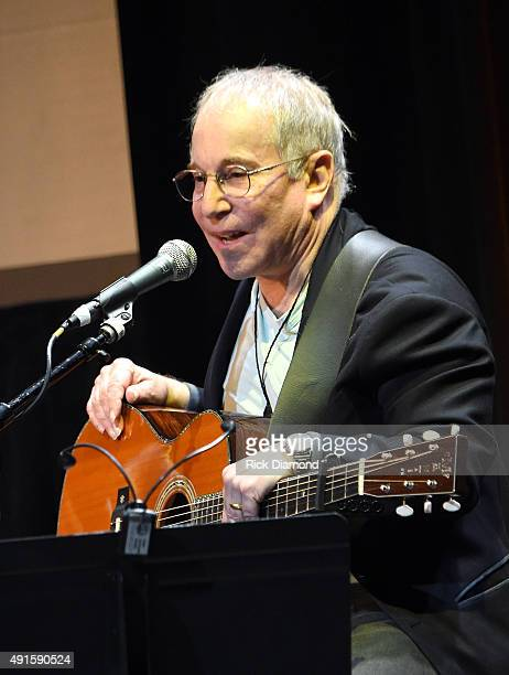 Paul Simon performs onstage at The Country Music Hall Of Fame Museum All For The Hall New York Benefit Concert at PlayStation Theater on October 6...