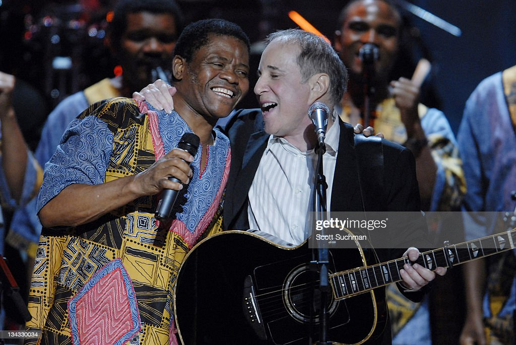 Paul Simon performs with Ladysmith Black Mambazo during The Library of Congress Gershwin Prize for Popular Song Celebrates Paul Simon at The Warner Theatre in Washington, District of Columbia, United States.