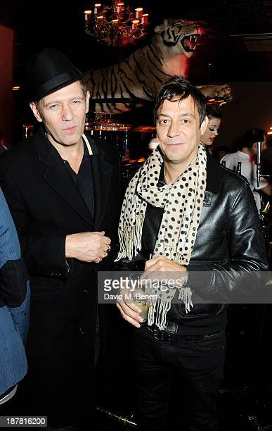 Paul Simonon and Jamie Hince attend #VauxhallPresents Made in England by Katy England screening hosted by Vauxhall Motors at The King's Head Private...