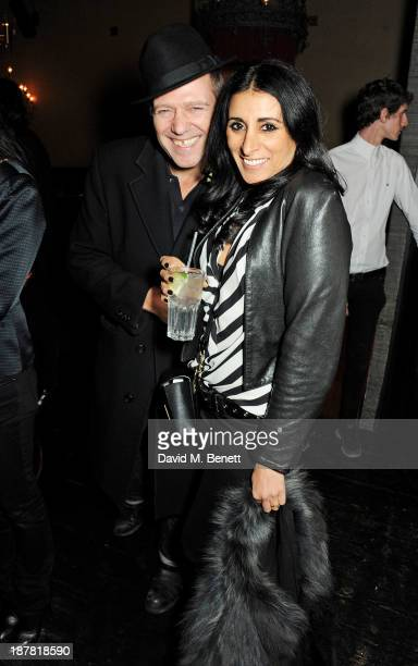Paul Simonon and Serena Rees attend #VauxhallPresents Made in England by Katy England screening hosted by Vauxhall Motors at The King's Head Private...