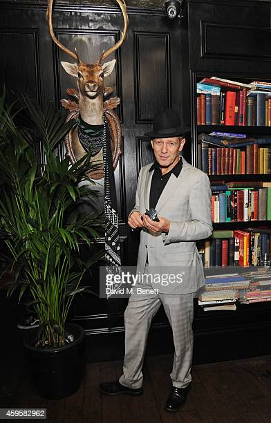 Paul Simonon attends the launch of the Rockins For Eyeko collection at The Scotch of St James on November 25 2014 in London England