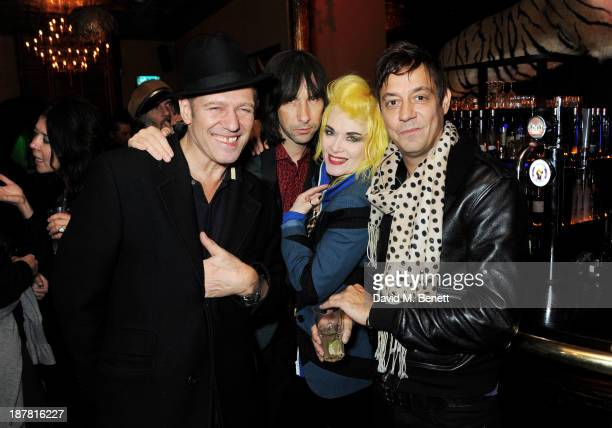 Paul Simonon Bobby Gillespie Pam Hogg and Jamie Hince attend #VauxhallPresents Made in England by Katy England screening hosted by Vauxhall Motors at...