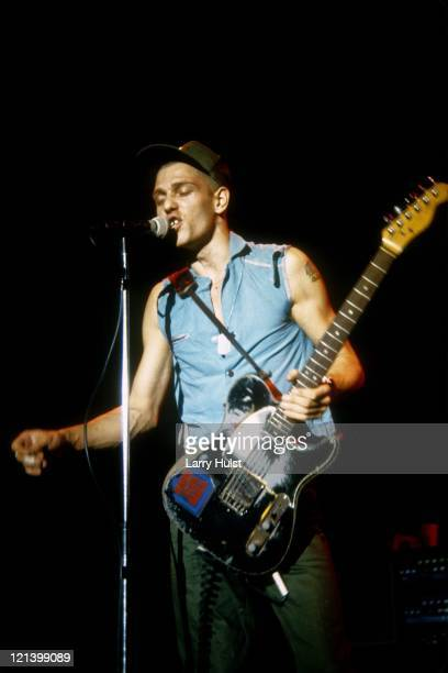 Paul Simonon performs at the Memorial Auditorium in Sacramento California on November 22 1983