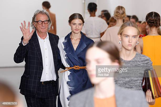 Paul Smith appears on the runway at the Paul Smith show during London Fashion Week Spring/Summer 2016/17 on September 20 2015 in London England