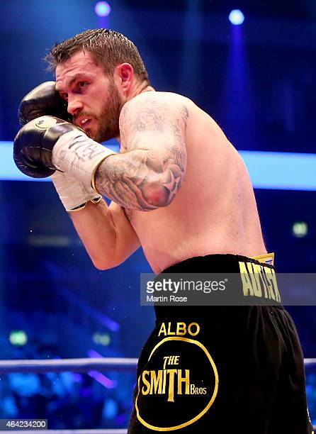 Paul Smith of Great Britain in action during the WBO World Championship Super Middleweight title fight at o2 World on February 21 2015 in Berlin...