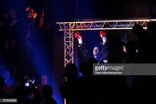 Paul Smith of Liverpool walks out to face James DeGale of Harlsden in their SuperMiddleweight Championship of the World fight during the Frank Warren...
