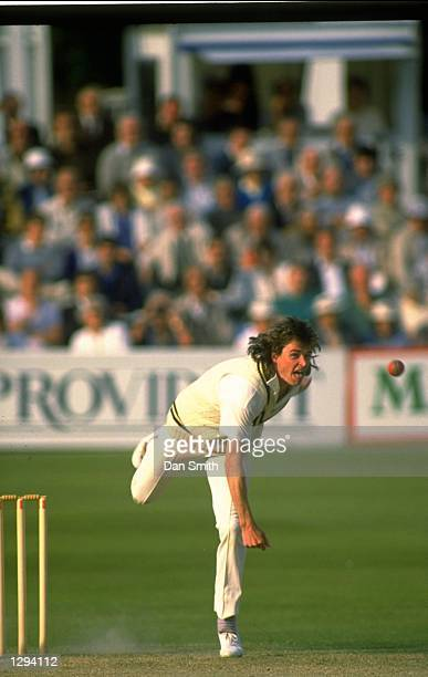 Paul Smith of Warwickshire bowls during a Benson and Hedges Cup match against Essex at Edgbaston in Birmingham England Mandatory Credit Dan...