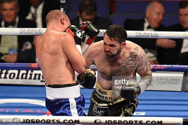 Paul Smith trades punches with Daniel Regi during a Light heavyweight contest at The O2 Arena on September 10 2016 in London England