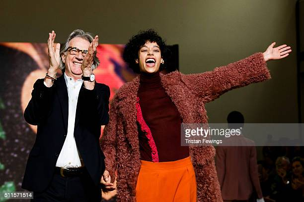 Paul Smith walks the runway at the Paul Smith show during London Fashion Week Autumn/Winter 2016/17 at Royal College Of Physicians on February 21...