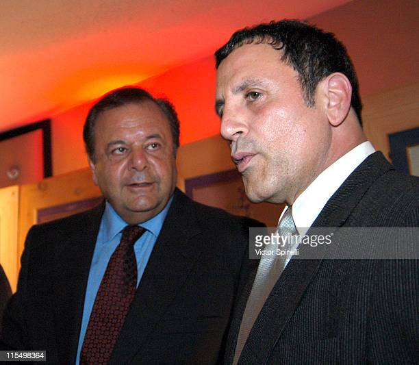 Paul Sorivno and Frank Stallone during Los Angeles Italian Film Awards Gala Dinner at Friars Club of California in Beverly Hills California United...