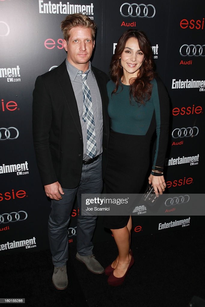 Paul Sparks and <a gi-track='captionPersonalityLinkClicked' href=/galleries/search?phrase=Annie+Parisse&family=editorial&specificpeople=224561 ng-click='$event.stopPropagation()'>Annie Parisse</a> arrive at Entertainment Weekly Screen Actors Guild Awards Pre-Party at Chateau Marmont on January 26, 2013 in Los Angeles, California.