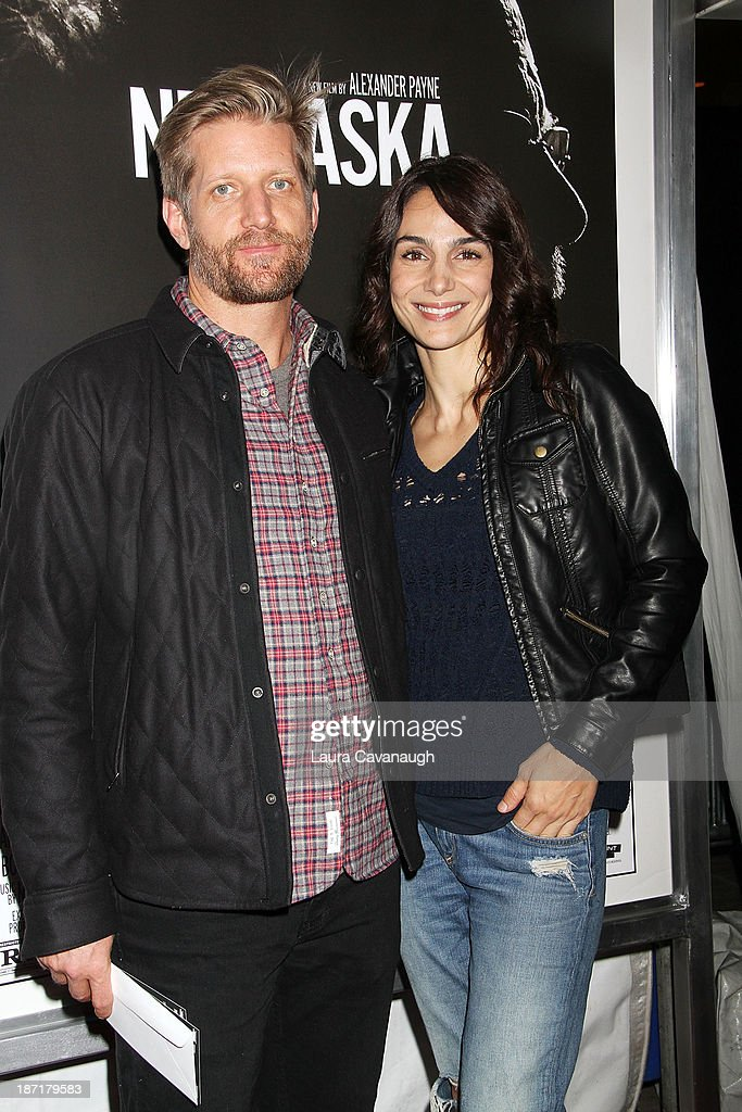Paul Sparks and <a gi-track='captionPersonalityLinkClicked' href=/galleries/search?phrase=Annie+Parisse&family=editorial&specificpeople=224561 ng-click='$event.stopPropagation()'>Annie Parisse</a> attend the 'Nebraska' screening at Paris Theater on November 6, 2013 in New York City.