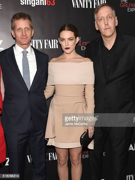 Paul Sparks Riley Keough and Lodge Kerrigan attend the New York premiere of 'The Girlfriend Experience' at The Paris Theatre on March 30 2016 in New...