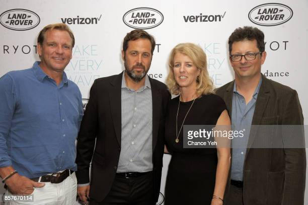 Paul Speaker Mark Bailey Rory Kennedy and Jack Youngelson attend 'Take Every Wave The Life Of Laird Hamilton' New York premiere at The Metrograph on...