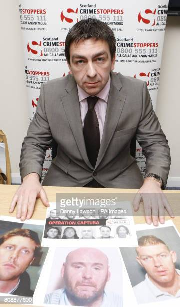 Paul Stanfield regional manager for SOCA during a press conference at Newsquest in Glasgow where the 10 latest suspected criminals hiding from police...