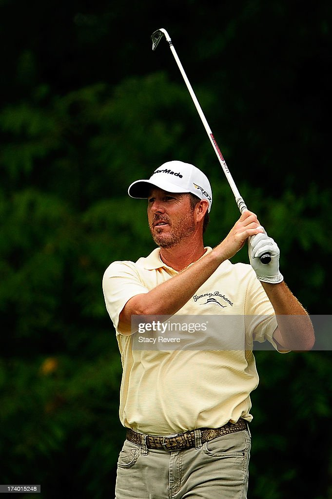 <a gi-track='captionPersonalityLinkClicked' href=/galleries/search?phrase=Paul+Stankowski&family=editorial&specificpeople=823459 ng-click='$event.stopPropagation()'>Paul Stankowski</a> hits his tee shot on the 17th hole during a continuation of the first round of the Sanderson Farms Championship at Annandale Golf Club on July 19, 2013 in Madison, Mississippi.