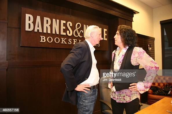 Paul Stanley and publicist Michael Levine at the book signing at Barnes Noble at The Grove in Los Angeles California on April 16 2014