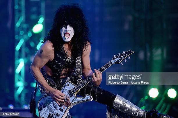 Paul Stanley lead the Kiss in concert at Arena di Verona on June 11 2015 in Verona Italy