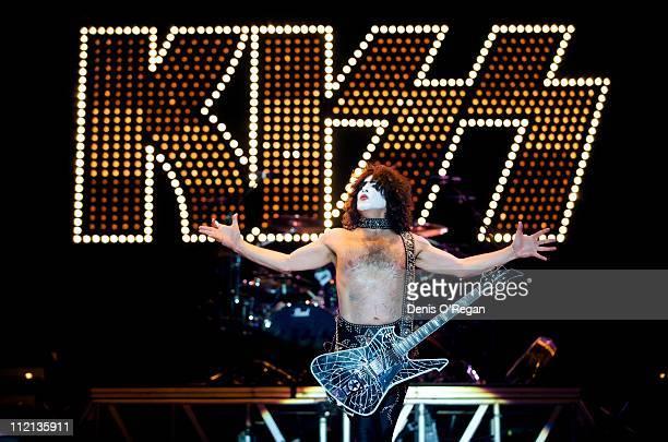 Paul Stanley of KISS live in Dessel Belgium 2008