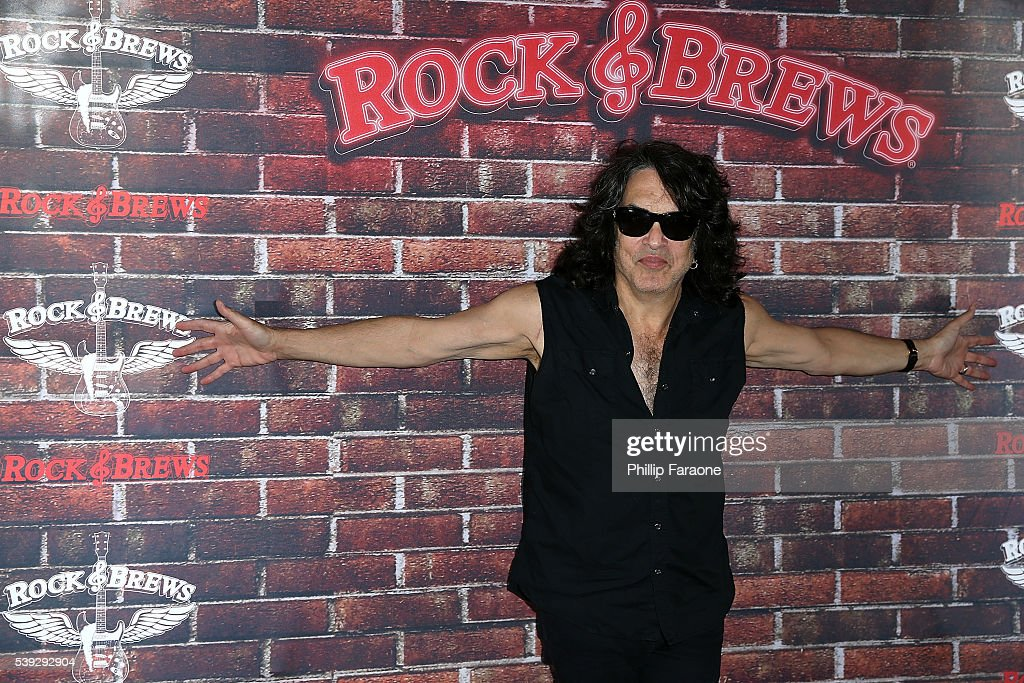 Paul Stanley of KISS selects the Rock And Roll Fantasy Camp offer winner at Rock Brews on June 10 2016 in Buena Park California