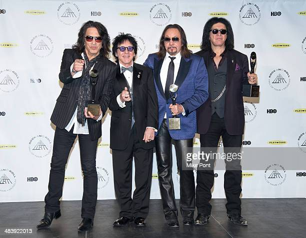 Paul Stanley Peter Criss Ace Frehley and Gene Simmons attend the 29th Annual Rock And Roll Hall Of Fame Induction Ceremony at Barclays Center on...
