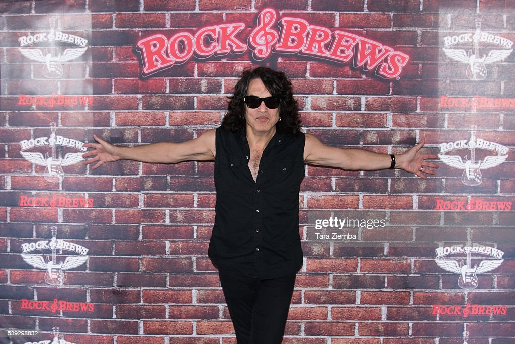 Paul Stanley selects the Rock and Roll Fantasy Camp offer winner at Rock Brews on June 10 2016 in Buena Park California