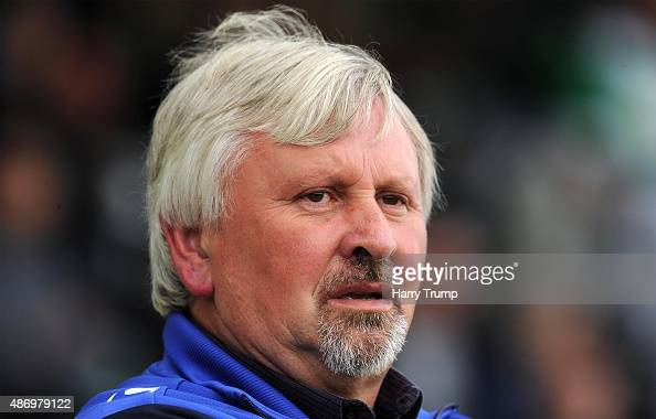 Paul Sturrock Manager of Yeovil Town looks on prior to the Sky Bet League Two match between Yeovil Town and Morecambe at Huish Park on September 5...