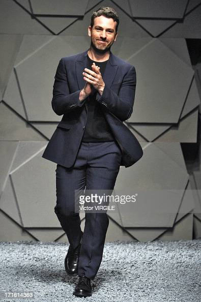 Paul Surridge walks the runway at the Z Zegna show during Milan Menswear Fashion Week Spring Summer 2014 on June 25 2013 in Milan Italy