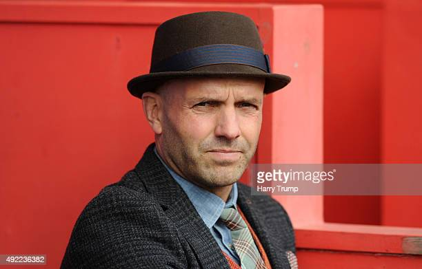 Paul Tisdale Manager of of Exeter City during the Sky Bet League Two match between Exeter City and Stevenage at St James Park on October 11 2015 in...