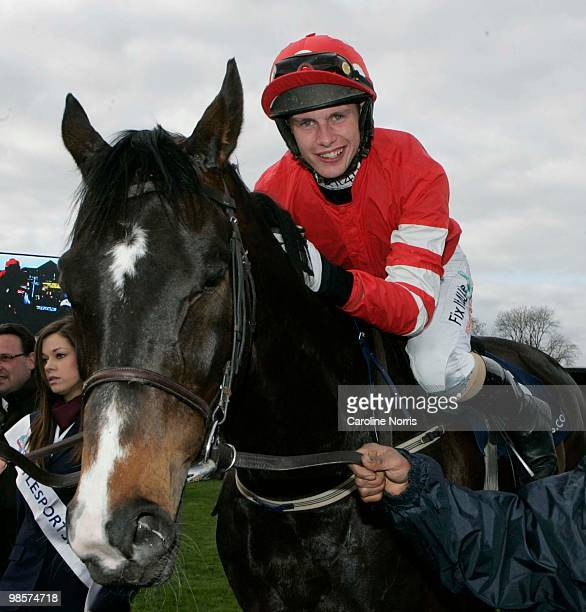 Paul Townend on Golden Silver after winning the Boylesportscom Champion Chase at Punchestown Racecourse on April 20 2010 in Naas Republic of Ireland