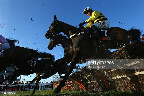 Paul Townend riding Glens Melody on his way to victory in the Olbg Mares' Hurdle Race on day one at Cheltenham Racecourse on March 10 2015 in...