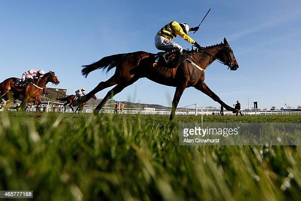 Paul Townend riding Glens Melody wins The OLBG Mares' Hurdle Race at Cheltenham racecourse on March 10 2015 in Cheltenham England