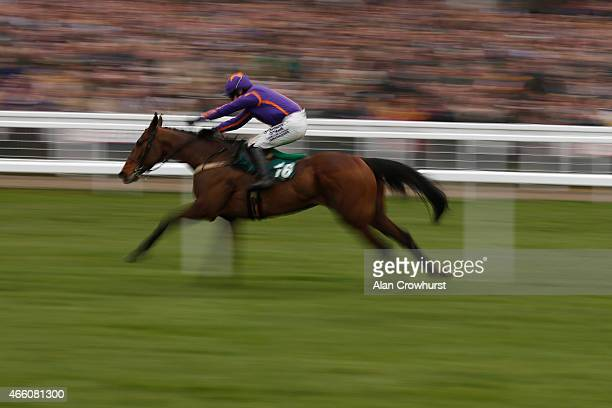 Paul Townend riding Wicklow Brave win The Vincent O'Brien County Handicap Hurdle Race during Gold Cup day at the Cheltenham Festival at Cheltenham...