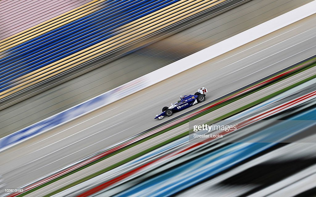 <a gi-track='captionPersonalityLinkClicked' href=/galleries/search?phrase=Paul+Tracy&family=editorial&specificpeople=179458 ng-click='$event.stopPropagation()'>Paul Tracy</a>, driver of the #24 Dad's Root Beer/DRR Dallara Honda, during practice for the IndyCar Series Kentucky Indy 300 at Kentucky Speedway on September 3, 2010 in Sparta, Kentucky.
