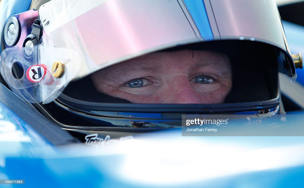 <a gi-track='captionPersonalityLinkClicked' href=/galleries/search?phrase=Paul+Tracy&family=editorial&specificpeople=179458 ng-click='$event.stopPropagation()'>Paul Tracy</a> driver of the #15 KV Racing Dallara Honda during practice for the Indy Car Series Honda Indy Edmonton on July 24, 2010 at Edmonton City Centre Airport in Edmonton, Alberta, Canada.