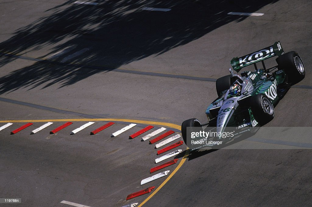 Paul Tracy #26 drives his Team Kool Green Honda Lola during the Molson Indy Vancouver, round 10 of the CART FedEx Championship Series on July 28, 2002 at the Concord Pacific Place in Vancouver, Canada.