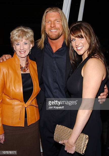 Paul 'TripleH' Michael Levesque wife Stephanie McMahon and motherinlaw Linda McMahon