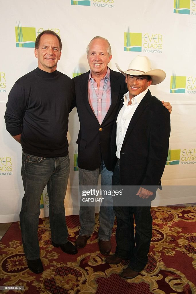 Paul Tudor Jones II David Ober and Mike Ramos attend The Everglades Foundation Sixth Annual Benefit at The Breakers on February 18 2011 in Palm Beach...