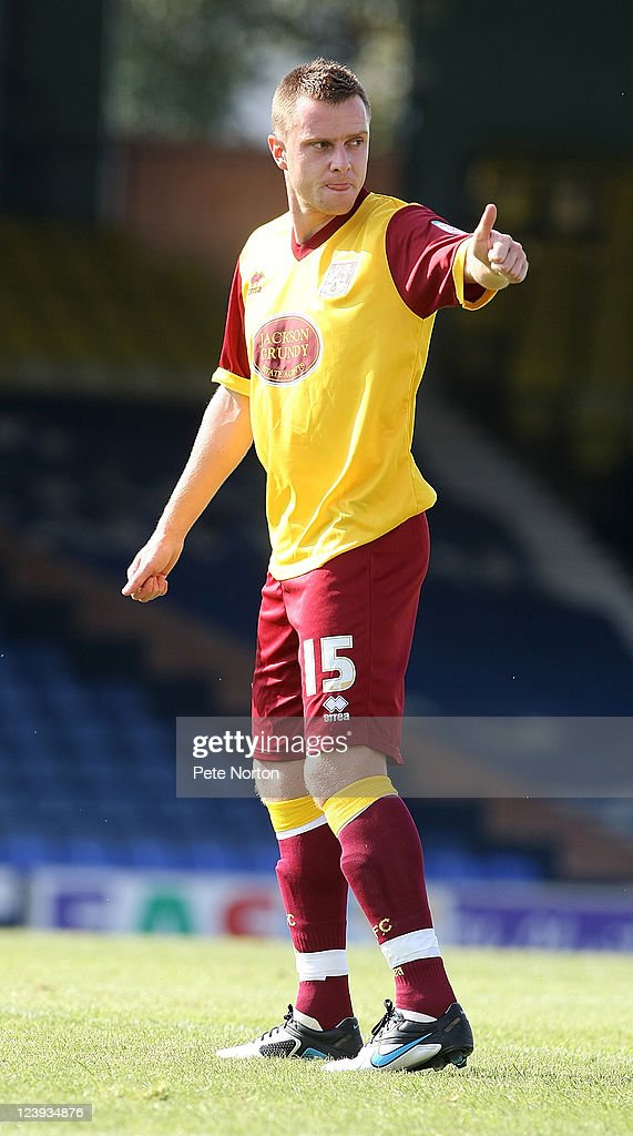 Paul Turnbull of Northampton Town in action during the npower League Two match between Southend United and Northampton Town at Roots Hall on September 3, 2011 in Southend, England.