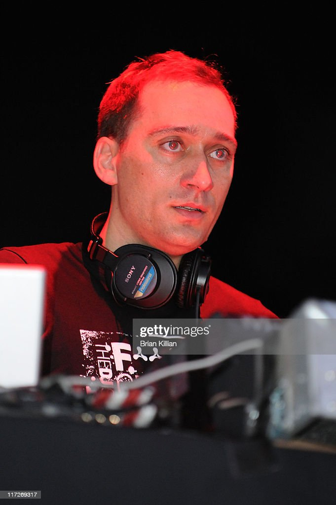 DJ Paul Van Dyk performs at Hudson River Park Pier 54 on August 16 2008 in New York City