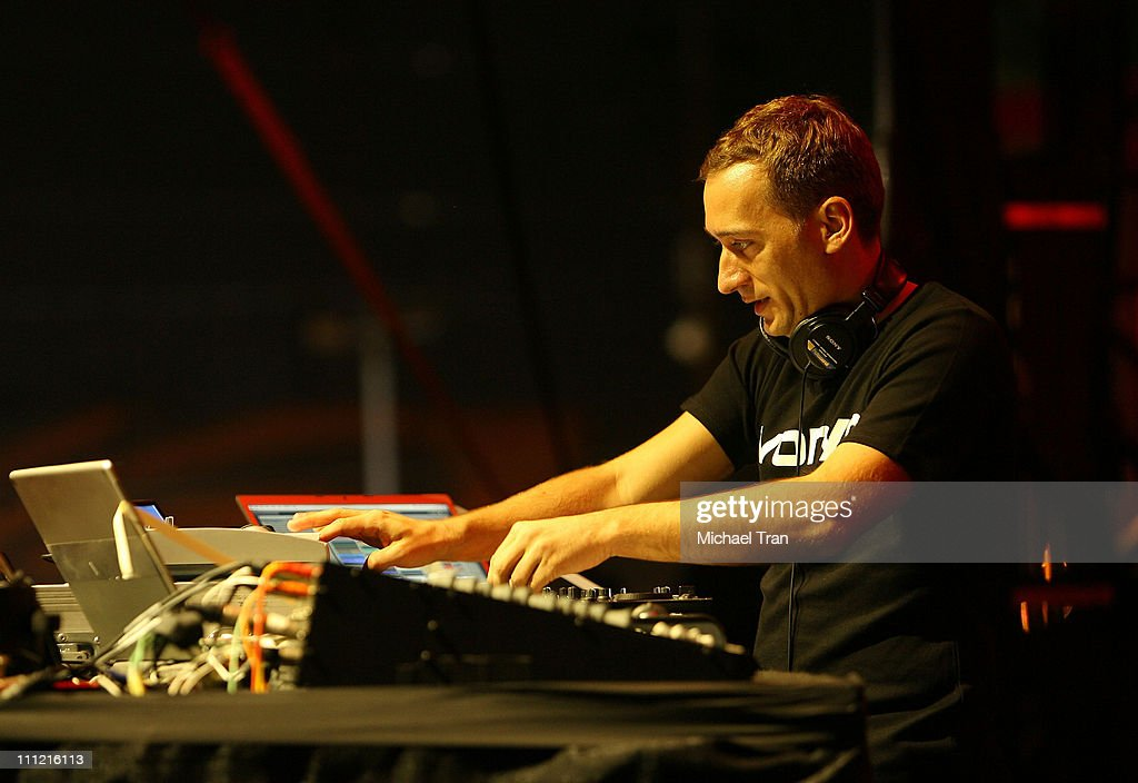 DJ Paul Van Dyk performs at the Nocturnal Wonderland Music Festival in Downtown Los Angeles on September 29 2007 in Los Angeles California