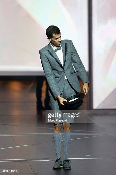 Paul Van Haver aka Stromae performs during the 30th 'Victoires de la Musique' French Music Awards Ceremony at le Zenith on February 13 2015 in Paris...