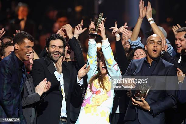 Paul Van Haver aka Stromae receives the Musical/Tour/Concert award for 'Racine Carree tour' during the 30th 'Victoires de la Musique' French Music...