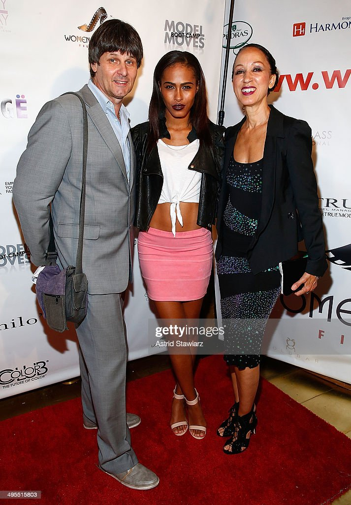 Paul van Ravenstein, Treveen Stewart and <a gi-track='captionPersonalityLinkClicked' href=/galleries/search?phrase=Pat+Cleveland+-+Model&family=editorial&specificpeople=592076 ng-click='$event.stopPropagation()'>Pat Cleveland</a> attend the 2nd Annual Women & Fashion FilmFest Red Carpet Opening at Gold Bar on June 3, 2014 in New York City.