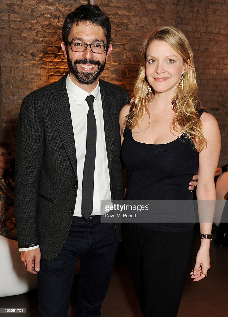 Paul van Zyl (L) and Kristy Caylor attend the Swarovski Whitechapel Gallery Art Plus Fashion fundraising gala in support of the gallery's education fund at The Whitechapel Gallery on March 14, 2013 in London, England.