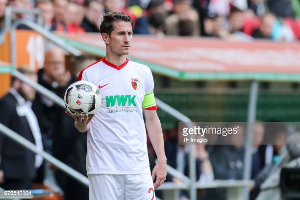 Paul Verhaegh of Augsburg controls the ball during the Bundesliga match between FC Augsburg and 1 FC Koeln at WWK Arena on April 15 2017 in Augsburg...
