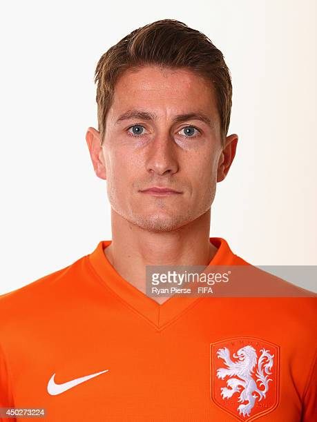 Paul Verhaegh of Netherlands poses during the official FIFA World Cup 2014 portrait session on June 7 2014 in Rio de Janeiro Brazil