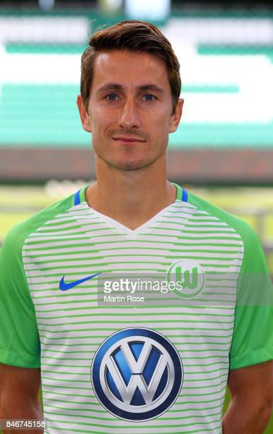 Paul Verhaegh of VfL Wolfsburg poses during the team presentation at on September 13 2017 in Wolfsburg Germany