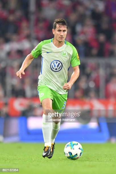 Paul Verhaegh of Wolfsburg controls the ball during the Bundesliga match between FC Bayern Muenchen and VfL Wolfsburg at Allianz Arena on September...