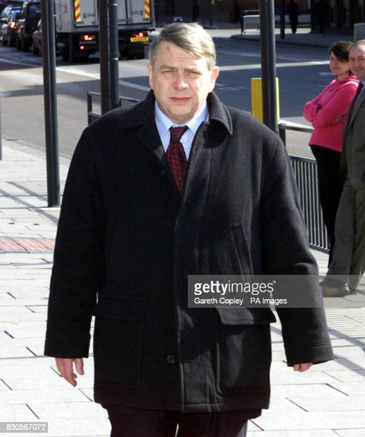 Paul Vinall a consultant gynaecologists from Leeds arrives at Leeds Magistrates Court where he was charged with 33 indecent assaults against patients...